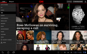 CNN App for Android Tablet