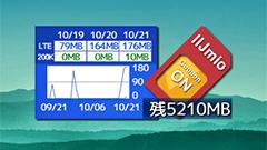 ミオジオ -IIJmio Status Widget-