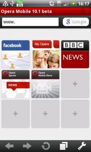 Web ブラウザ Opera Mobile