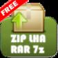 解凍ツール(ZIP/LHA/RAR/7z)日本語対応