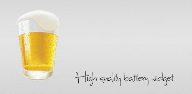 ビールのバッテリーウィジェット