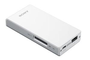 【スマホヘッドライン】ソニー、Wi-Fi接続のメモリーカードリーダー「WG-C10」を発表 給電機能付き -2013/01/31-