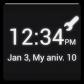 俺時計 (デジタル&アナログ時計ウィジェット)