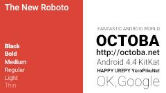 Google、Material DesignとともにRobotoフォントをリニューアル!より見やすくリズムと間隔を重視