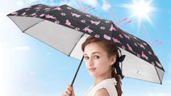 外気マイナス13度!?紫外線の強さで色が変わるUVチェッカー付きの日傘「ネコのUVお散歩日傘」が可愛くて機能的!