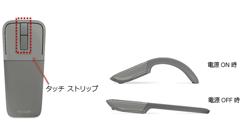フラット形状にして携帯できる「アークタッチBluetoothマウス」発売!