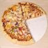 円形のピザ。さて、バレないようにつまみ食いするにはどうする?