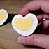 キャラ弁に入れるのに最適!ハート型のゆで卵の作り方