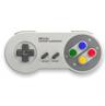グレーのボディが懐かしい!SFCコントローラ風のゲームパッド「スーパーレトロコントローラ」発売!