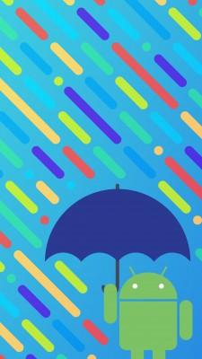 傘を持つドロイド君